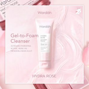 wardah-hydra-rose-gel-to-foam-cleanser-Zevolla
